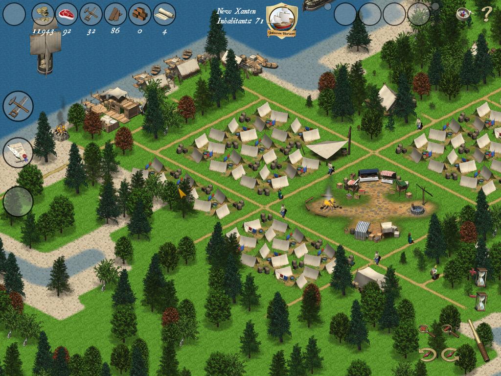 地图 游戏/Unknown Horizons是一款免费、开源的即时策略游戏。