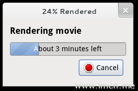 Render progress dialog