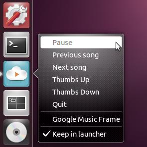 Google Music Frame Unity Quicklist