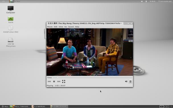 linuxMint12已经内置媒体插件