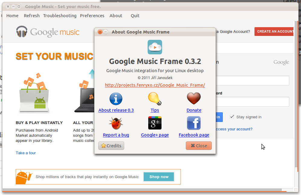 Google Music Frame (Nuvola Player) 0.3.2 发布 (新PPA源)