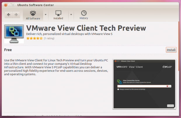 VMware View Client Tech Preview