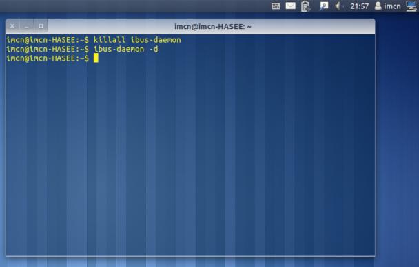 解决ubuntu 11.10 输入法图标消失的方法