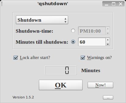 qshutdown设置