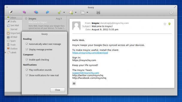 Geary一个新的电子邮件客户端