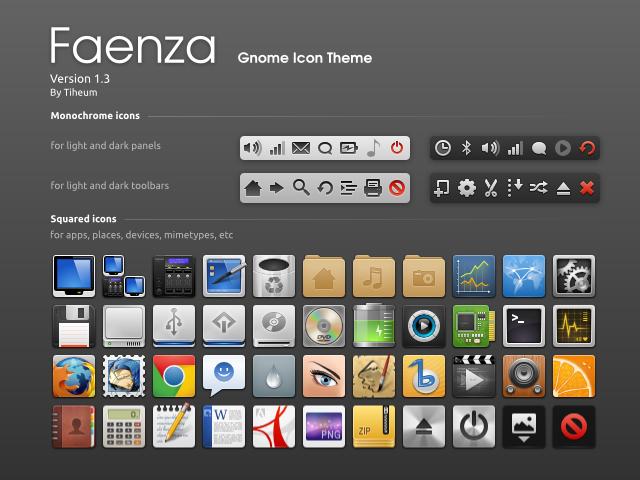 Faenza 1.3.1 发布 – 最漂亮的 Linux 图标主题