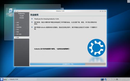 Kubuntu 13.05 install 10 installing
