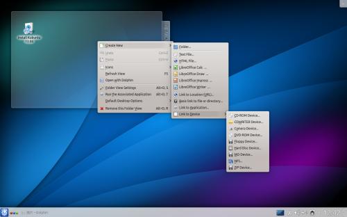 Kubuntu 1309 desktop luncher