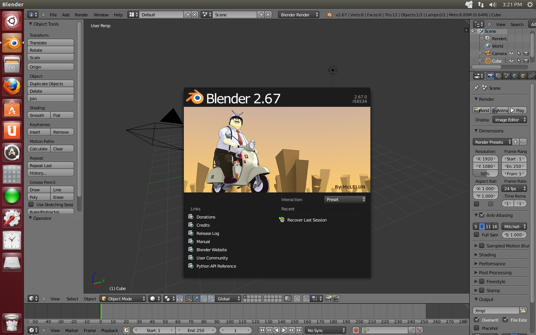 3D动画制作软件 Blender 2.67 发布