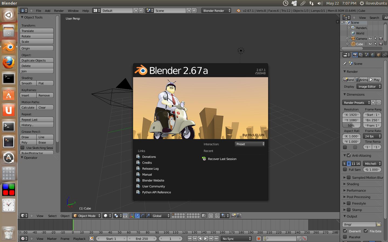 Blender 2.67a发布-超过100个bug修复