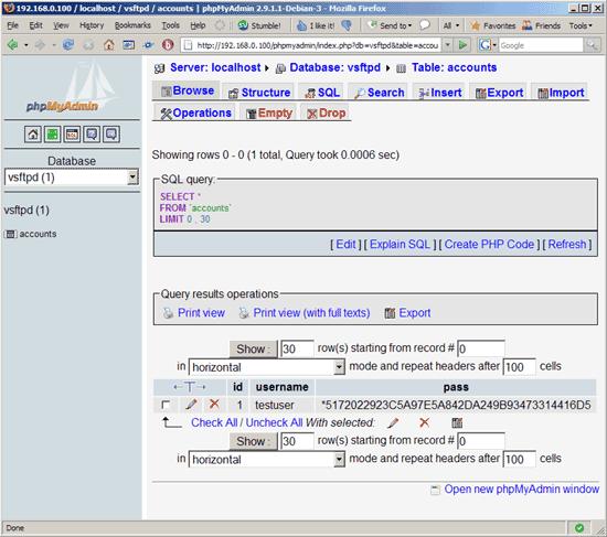 用 Mysql 数据库为 vsftpd 服务器建立虚拟机用户在Ubuntu中