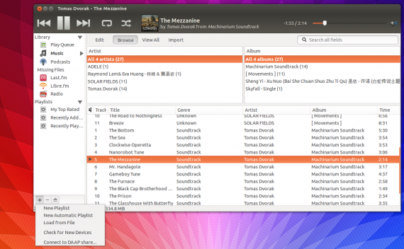 thythmbox ubuntu 13.10 beta