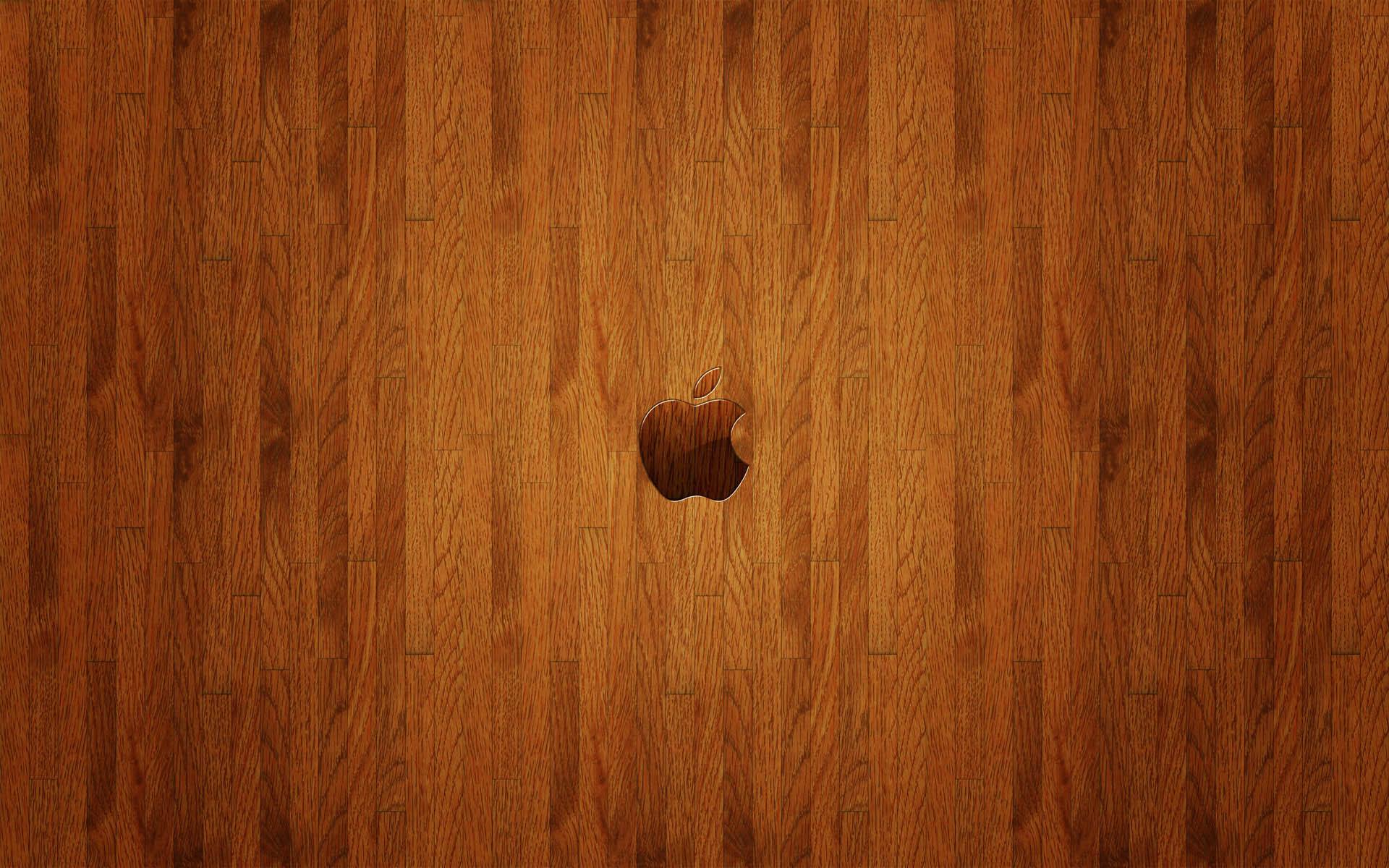 三张木质苹果壁纸