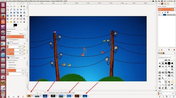 GIMP 2.2.9.1 BOTTOM AREA