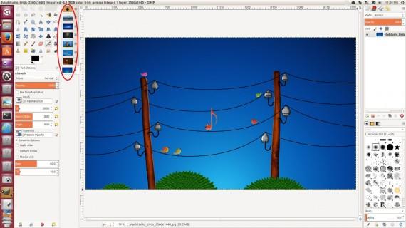 GIMP 2.9.1 LEFT SIDE