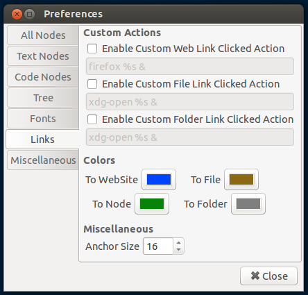 link color support CherryTree 0.32