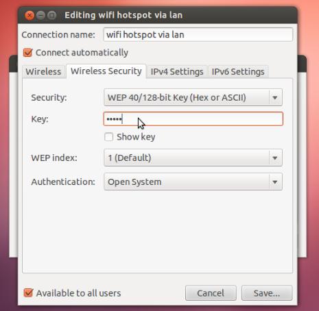 设置Ubuntu的笔记本电脑为WiFi热点