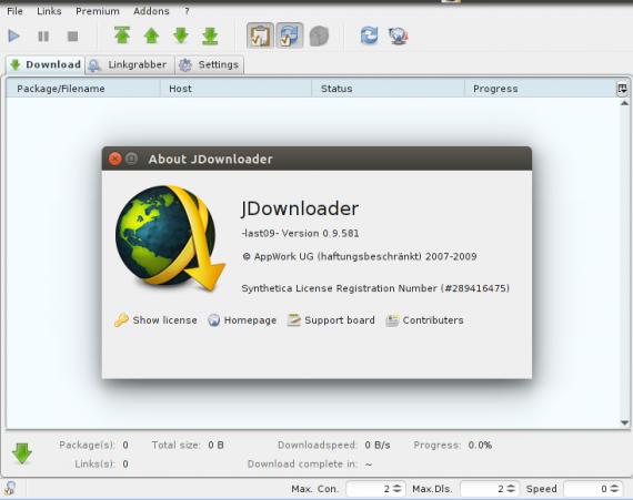 JDownloader 0.9.5.81