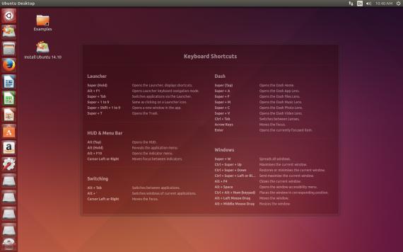 Ubuntu 14.10 desktop