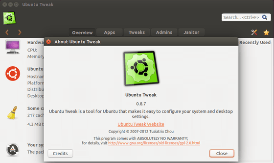 Ubuntu Tweak 0.8.7