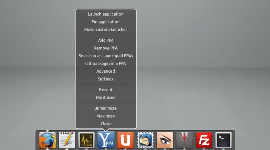 前卫漂亮的 Dock 启动器 DockbarX 0.91