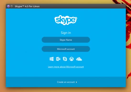 [图]微软面向Linux平台放出4.3版本Skype应用