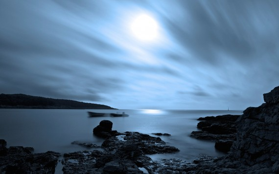 Night Seascape by Davor Dopar