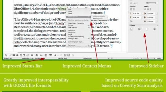 LibreOffice 4.4 发布 – UI改变