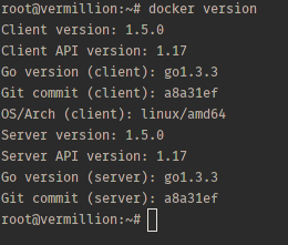Docker version.