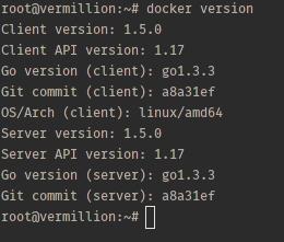 Docker version.
