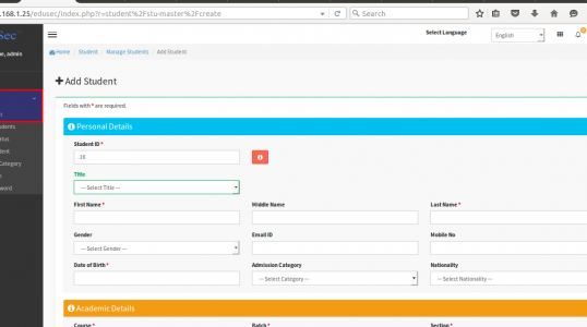 Linux Mint 17 上安装 Edusec 高校管理系统