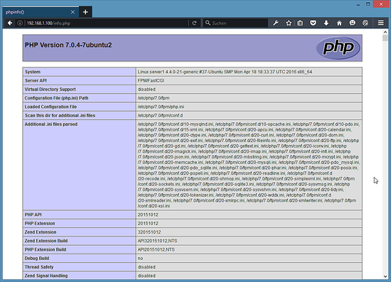 The PHP Modules have been installed.