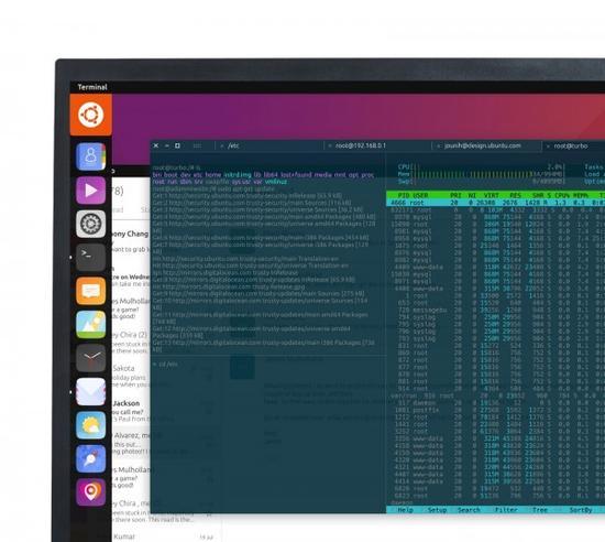 Canonical计划改善Ubuntu Linux终端在移动和桌面的界面和交互