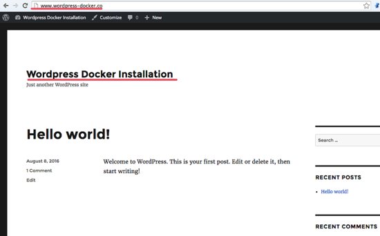 Docker_wordpress_home