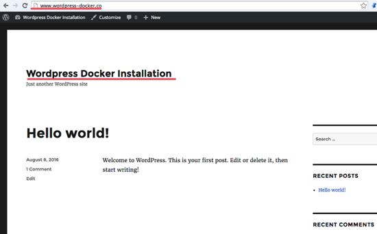 Docker_wordpress_home