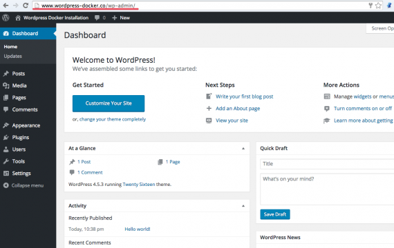 Wordpress_dashboard