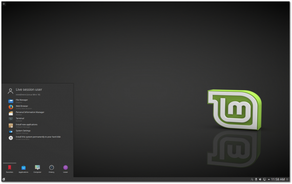 "Linux Mint 18 ""Sarah"" KDE – BETA 发布"