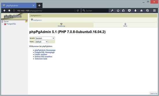 phppgadmin_start
