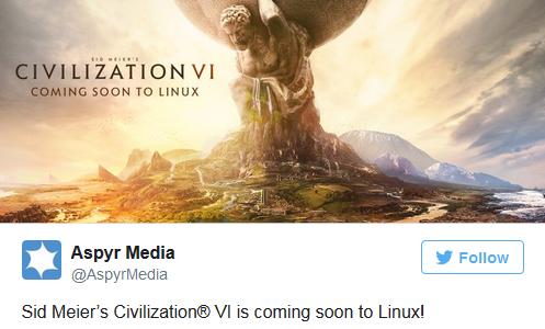 官方确认《文明6》将近期登陆Linux平台和SteamOS