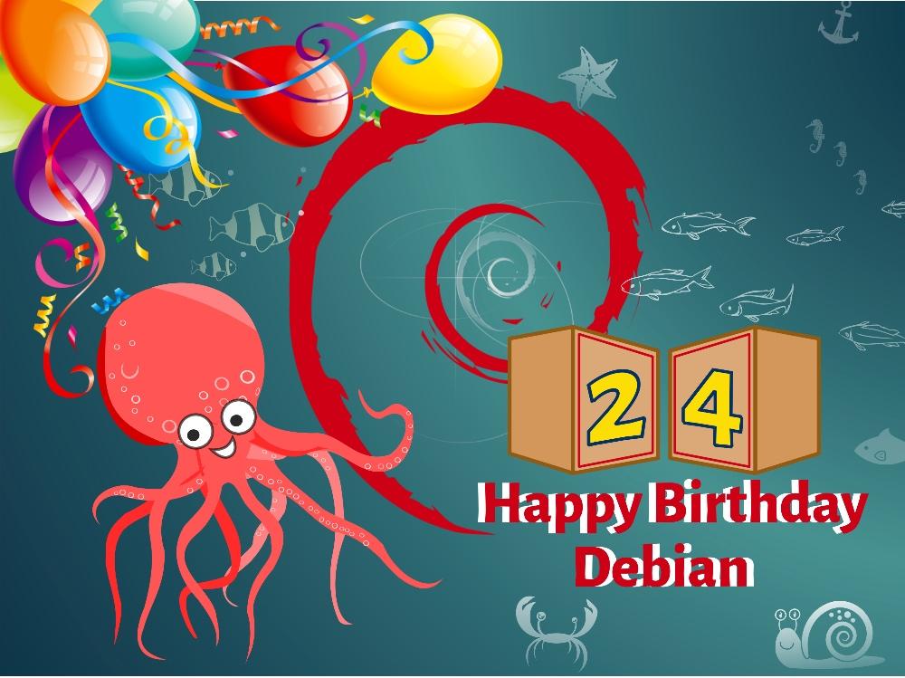 Debian 已经 24 岁啦Debian 已经 24 岁啦