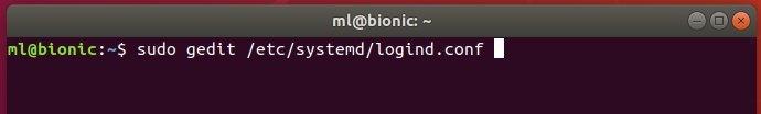 如何在Ubuntu 18.04 LTS中更改笔记本电脑盖关闭的动作