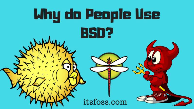 为什么要使用BSD系统?为什么要使用BSD系统?