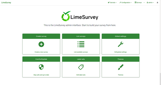 LimeSurvey仪表板