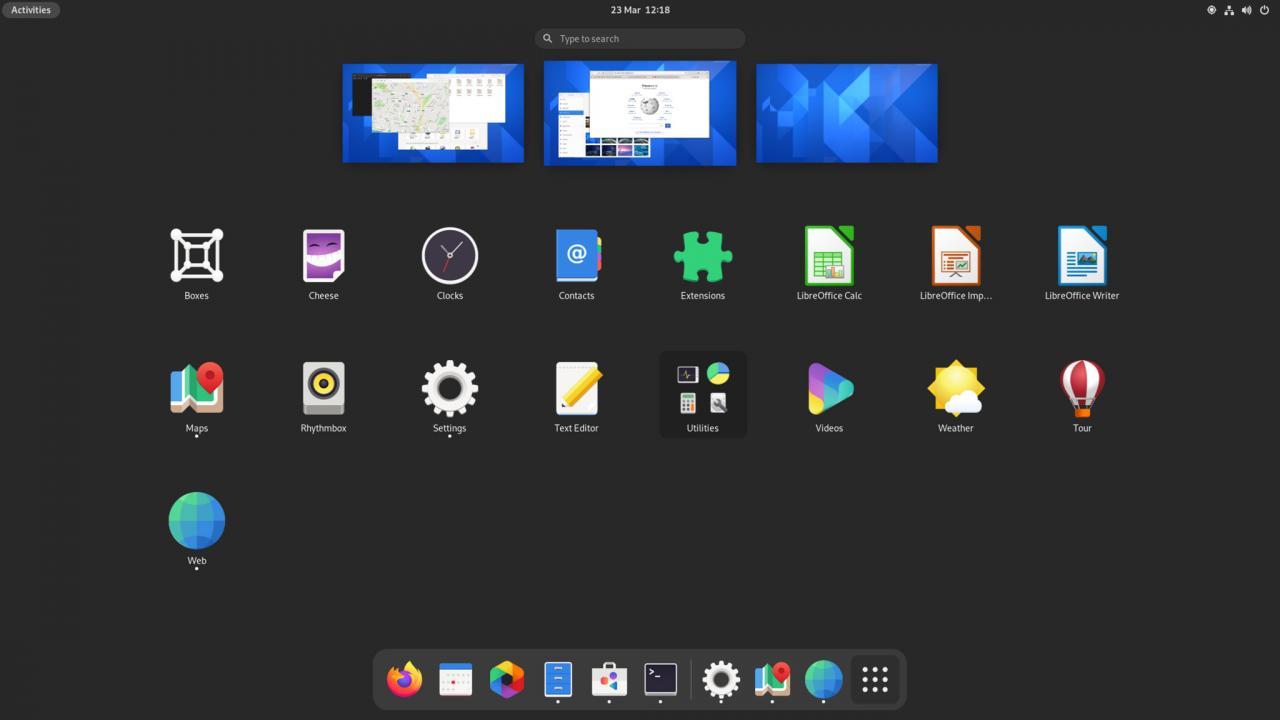 GNOME 40应用启动器