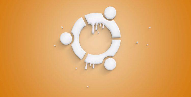 ubuntu 标志融化的图像