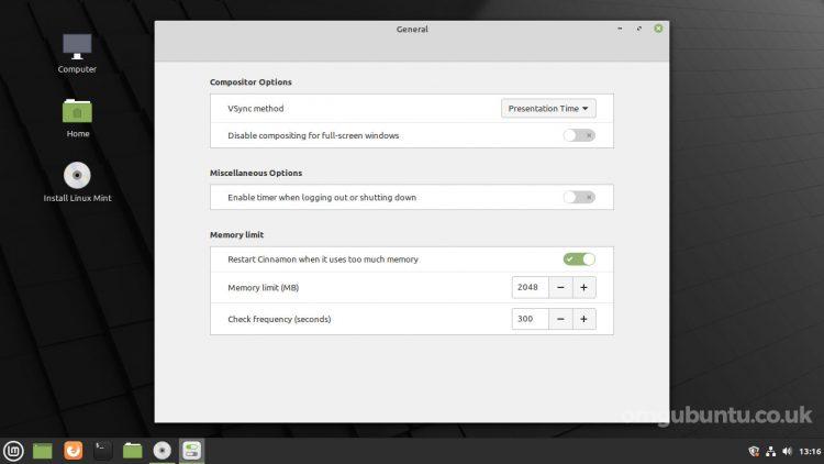 Linux Mint 20.2 cinnamon 首选项的屏幕截图