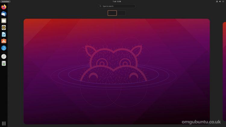 Ubuntu 21.10 每日构建中 GNOME 40 的屏幕截图